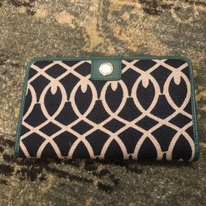 Spartina 449 | Linen and Leather Snap Wallet